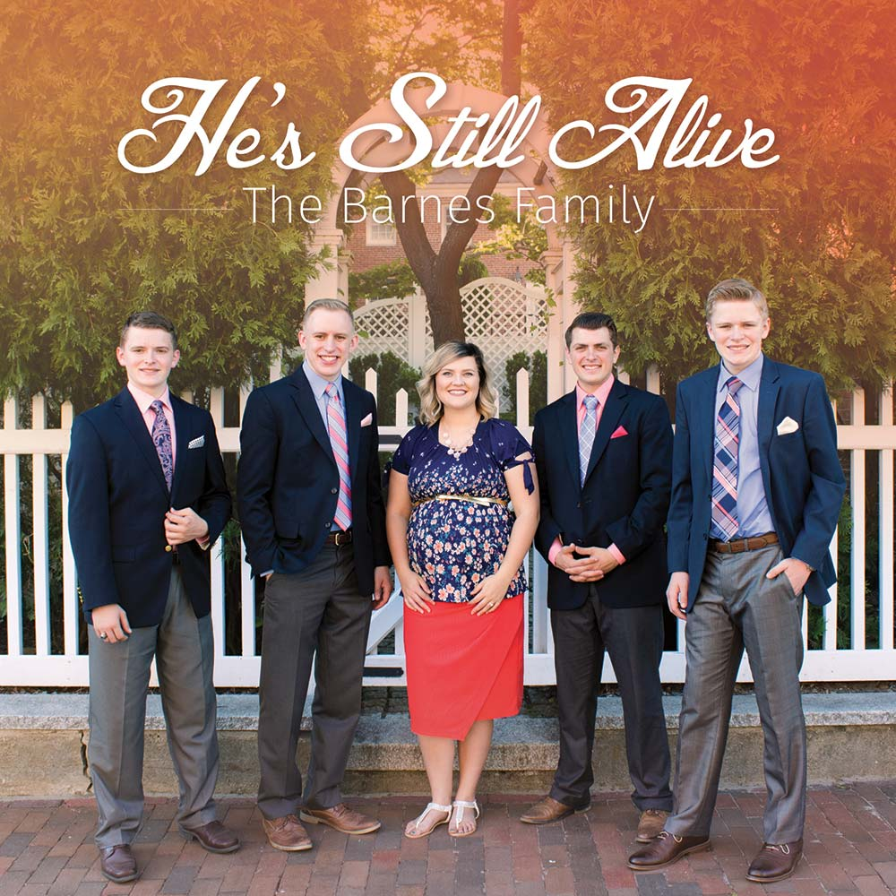 A mockup of the He's Still Alive cd cover
